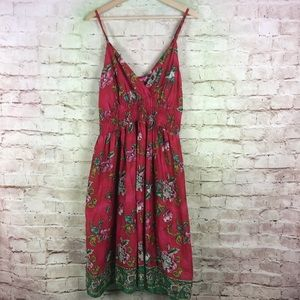 Pink Apple Sundress Size 1X Red Empire Waist